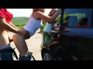 Women getting fucked on cars can, too